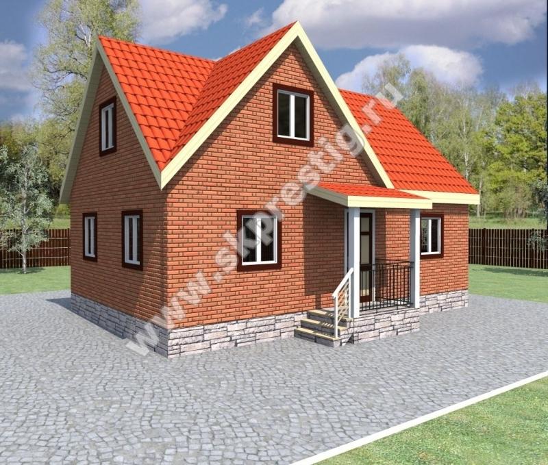Да нормально пеноблок, я дом для постоянного проживания строил и нормально из газоблоков по этому проекту