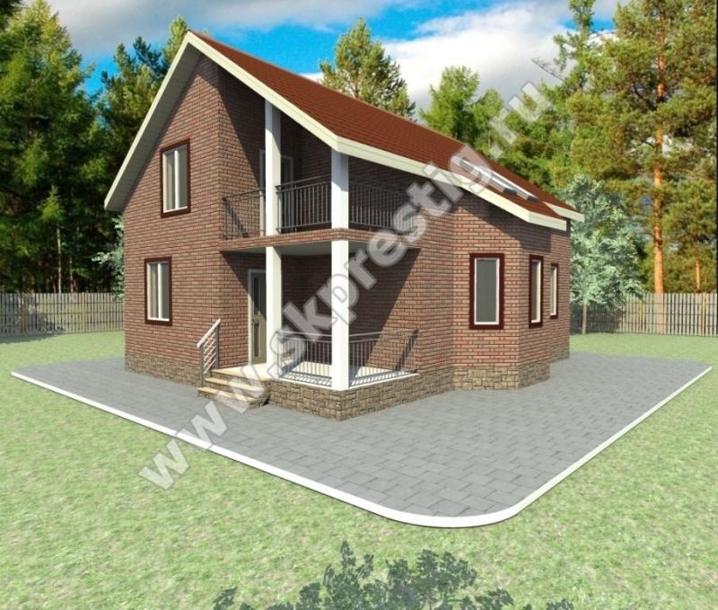Проекты домов из пеноблоков с мансардой