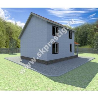 Дом из пеноблоков ПП-012 10х8м