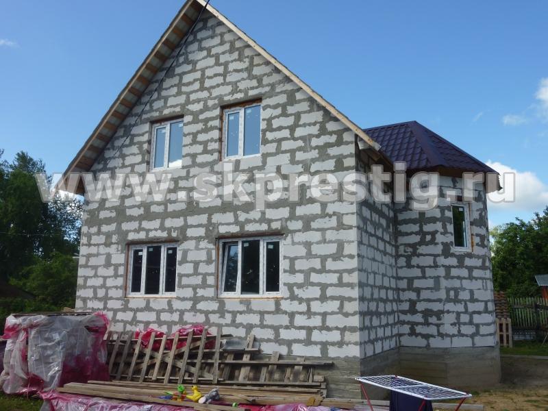 Фото готовых домов из пеноблоков - СК Престиж
